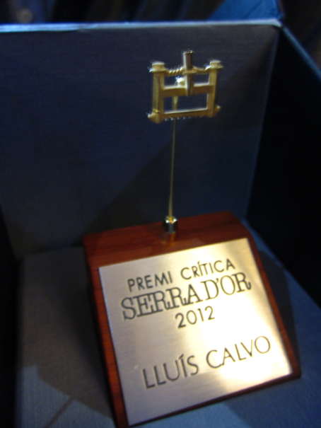 Lluís Calvo guanya el premi de la Crítica Serra d'Or amb el seu poemari «Estiula». Enhorabona, Lluís!