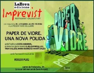 FLYER PAPER DE VIDREBloc