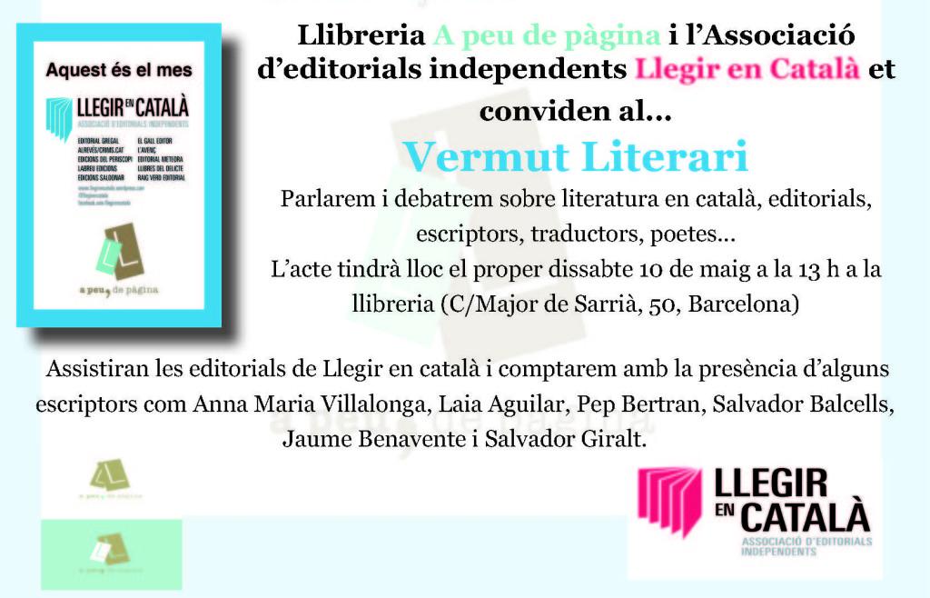 Invitació Vermut Literari