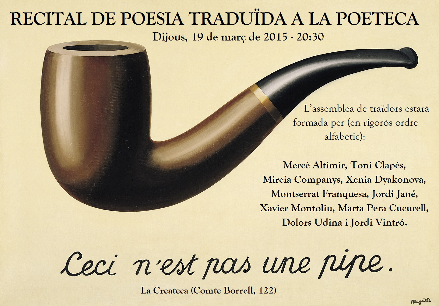Recital a la Createca 19-3-2015