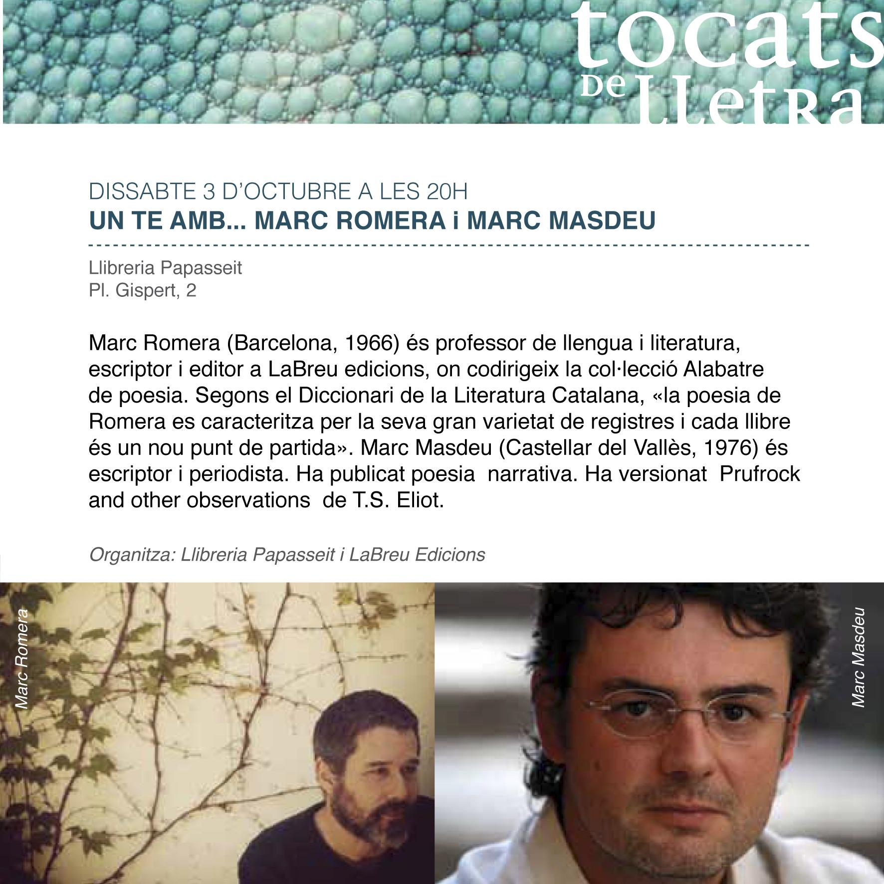 Romera Masdeu TOCATS DE LLETRA