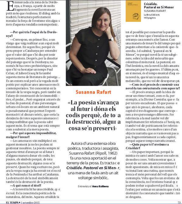 Susanna Rafart El Temps