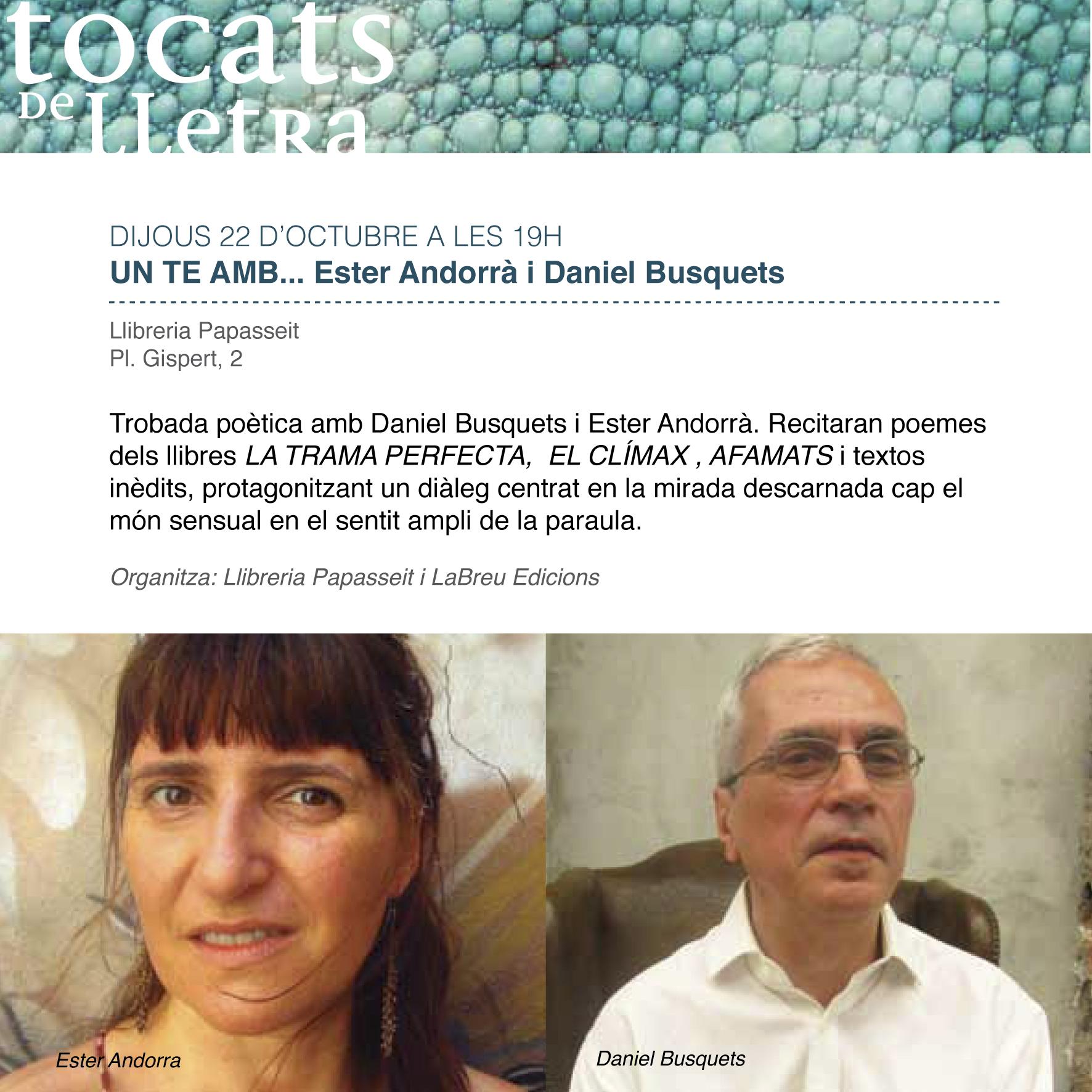 Tocats de Lletra Busquets Andorrà