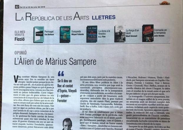 ÀLIEN I LA TERRA PROMESA de Màrius Sampere a La República (22.06.18)