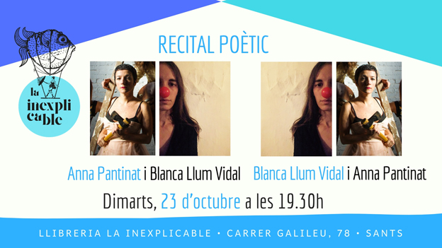 Anna Pantinat i Blanca Llum Vidal a La Inexplicable (23.10.18)
