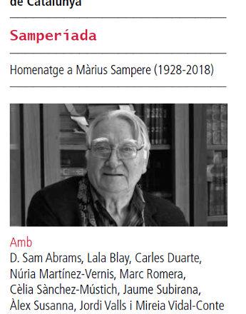 SAMPERIADA homenatge aMàrius Sampere al18è Festival nacional de poesia a Sant Cugat (21.10.18)
