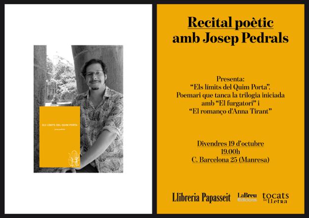 ELS LÍMITS DEL QUIM PORTA de Josep Pedrals a la llibreria Papasseit (19.10.18)